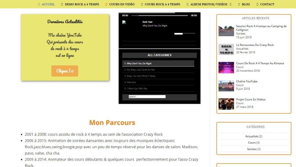 Ancienne Page D'accueil Du Site Rock 4 Temps